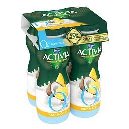 Iogurte Activia Líquido 0% Ananás/Coco