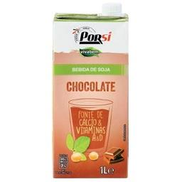 Bebida de soja e chocolate