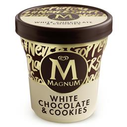 Gelado Magnum de Chocolate Branco e Cookies