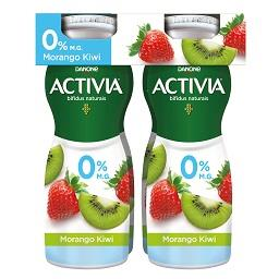 Iogurte activia líquido 0% morango/kiwi