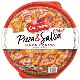 Pizza fiambre e queijo
