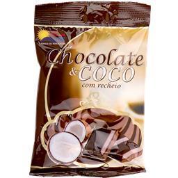 Drops chocolate e coco c/recheio 100gr