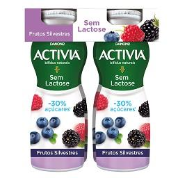 Activia líquido s/ lactose frutos silvestres