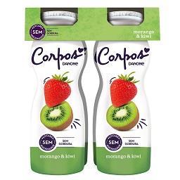 Iogurte líquido morango / kiwi corpos danone