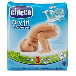 Fraldas Dry Fit, 4-9kg - Tamanho 3