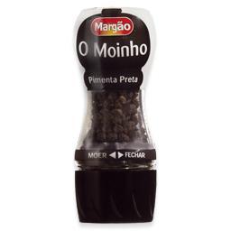 Pimenta preta, com moinho, no  frasco
