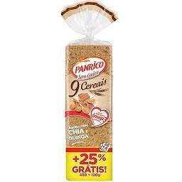 Pão de forma 9 cereais sem côdea